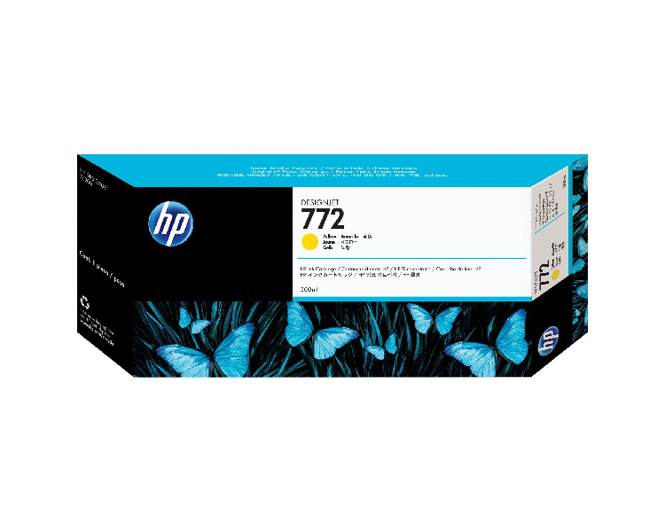 HP 772 Designjet Ink Cartridge - 300 ml Yellow
