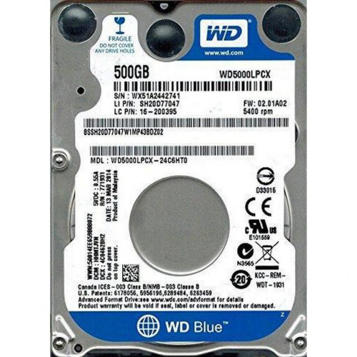 WD Blue 500Gb (WD5000LPCX)