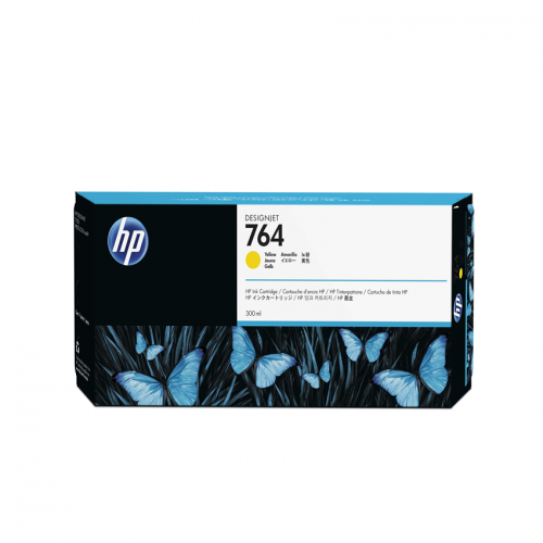 HP 764 Designjet Ink Cartridge - 300 ml Yellow