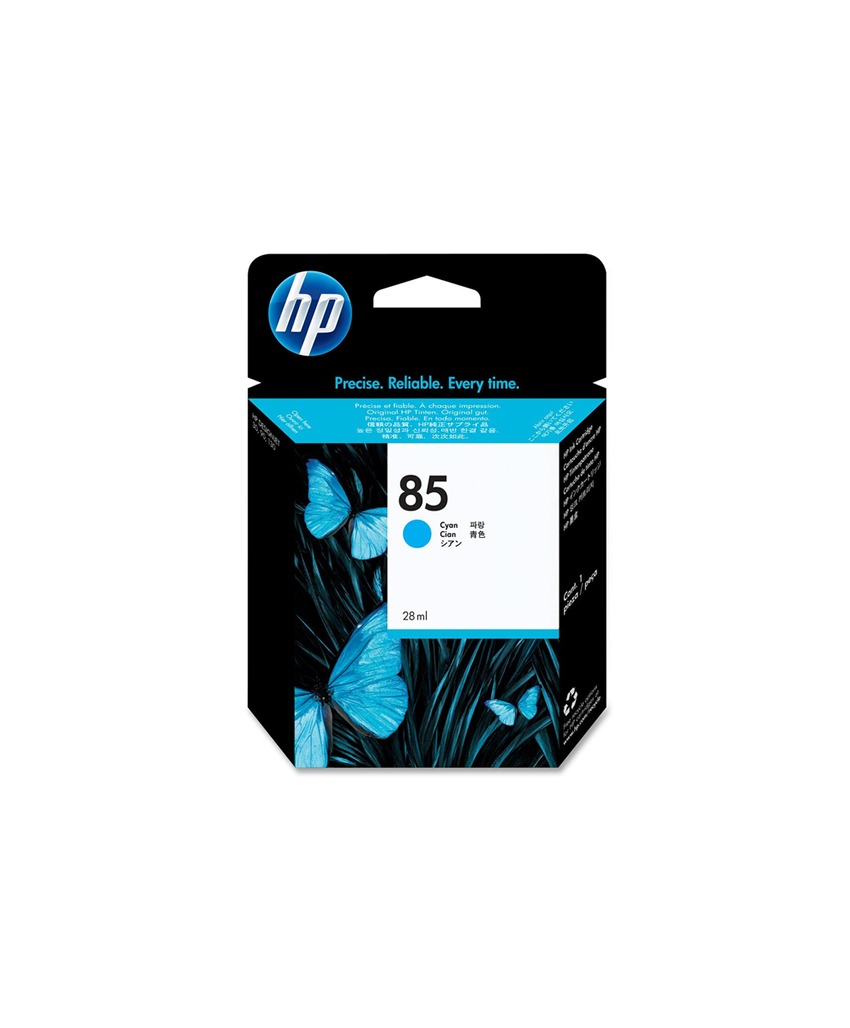 HP 85 Designjet Ink Cartridge - 28ml Cyan