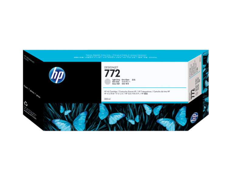 HP 772 Designjet Ink Cartridge - 300 ml Light Gray