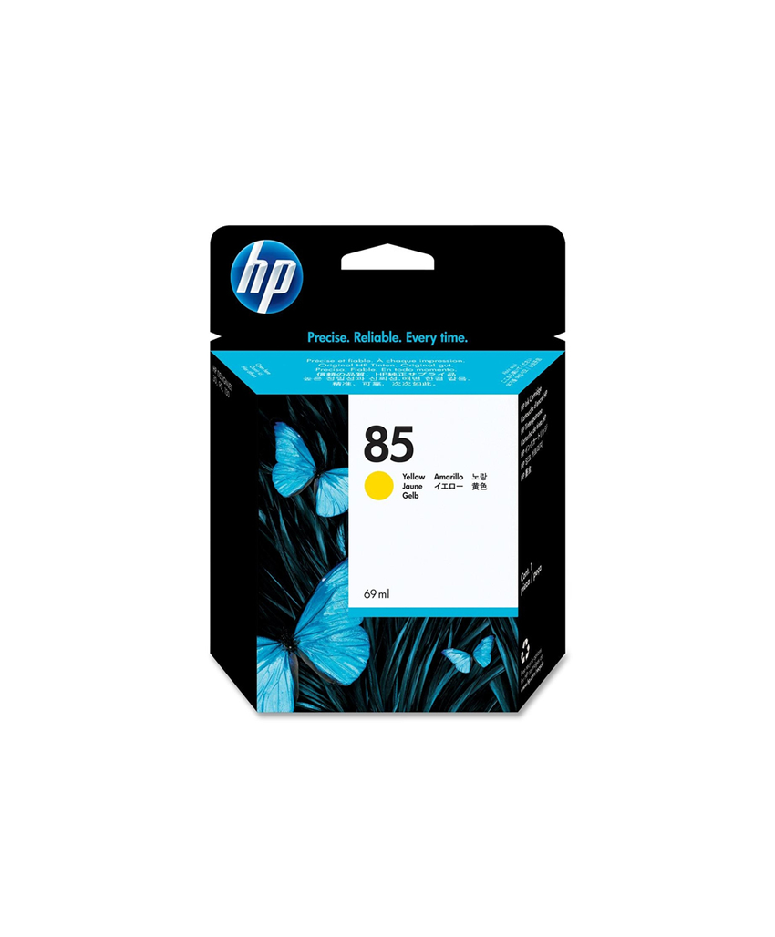 HP 85 Designjet Ink Cartridge - 69ml Yellow