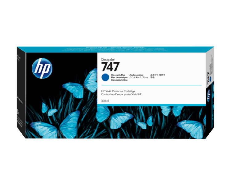 HP 747 Designjet Ink Cartridge 300ml Chromatic Blue