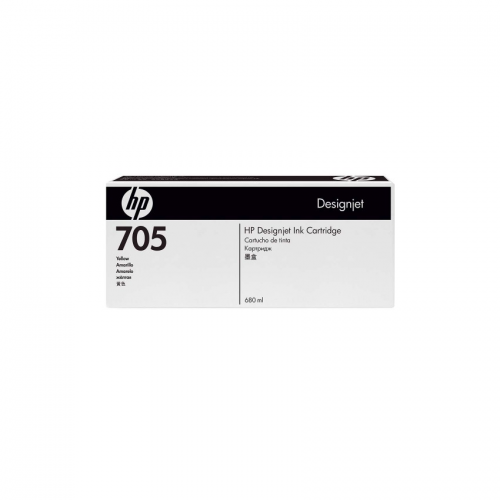 HP 705 DesignJet Ink Cartridge - 680 ml Yellow