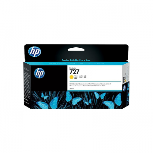 HP 727 Designjet Ink Cartridge - 300 ml Yellow