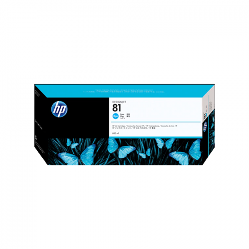 HP 81 DesignJet Ink Cartridge - 680 ml Cyan