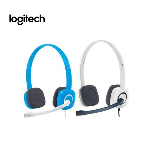 Logitech H150 Headset - White, Blue