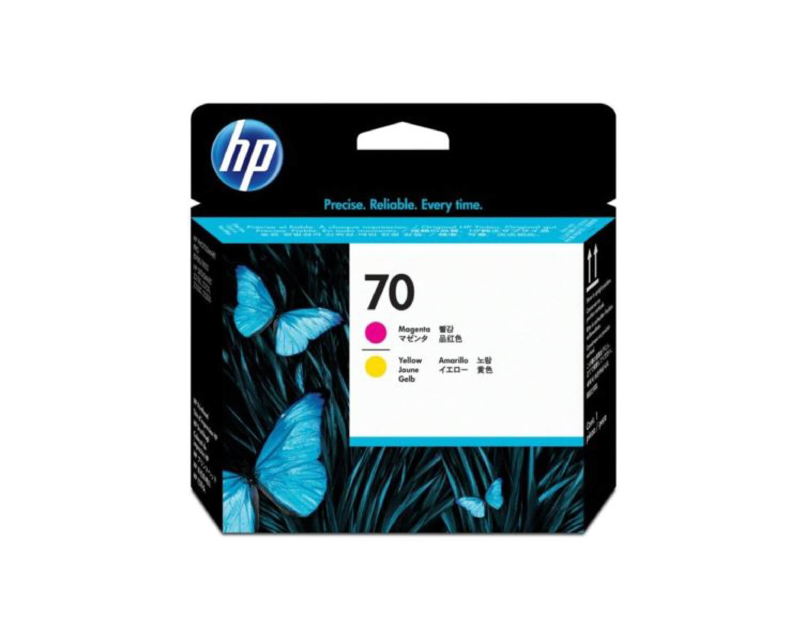 HP 70 DesignJet Printhead - Magenta & Yellow