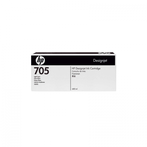 HP 705 DesignJet Ink Cartridge - 680 ml Light Cyan