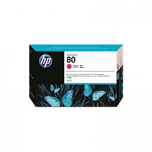 HP 80 Designjet Ink Cartridge - 350 ml Magenta