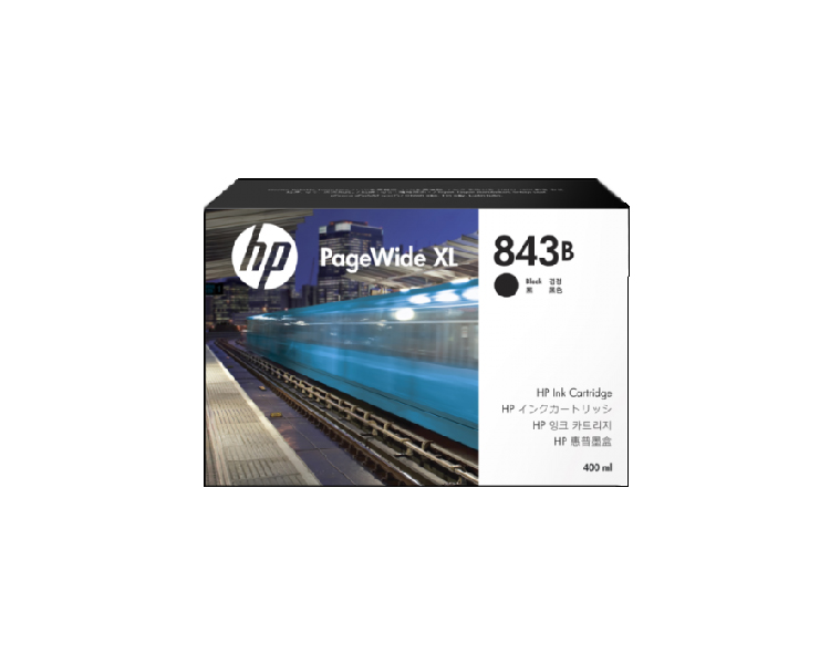HP 843B DesignJet Ink Cartridge - 400ml Black