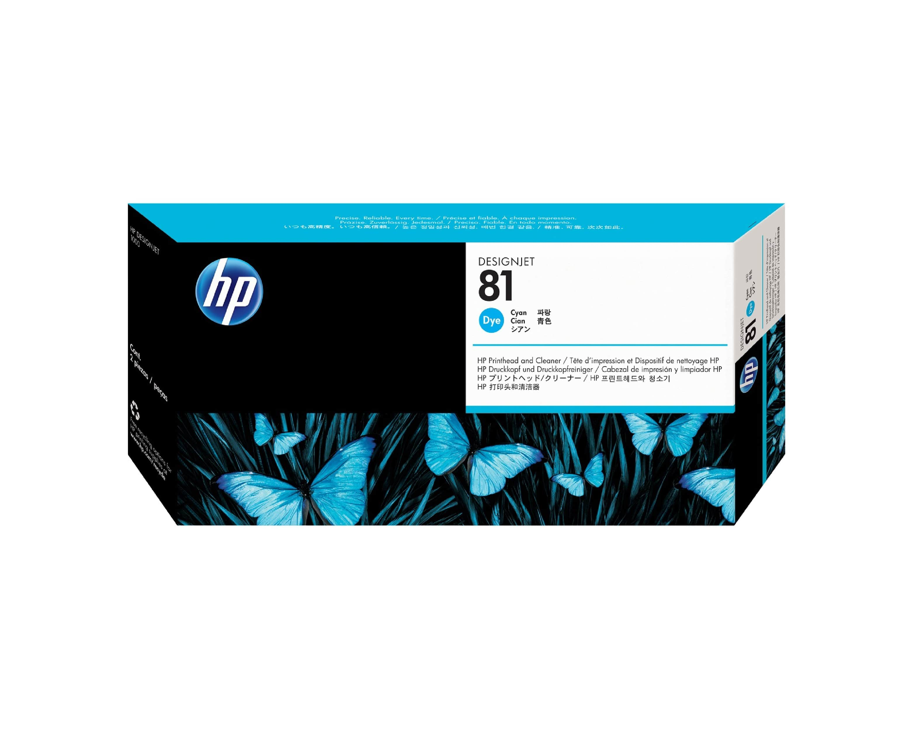 HP 81 DesignJet Printhead & Cleaner - Cyan