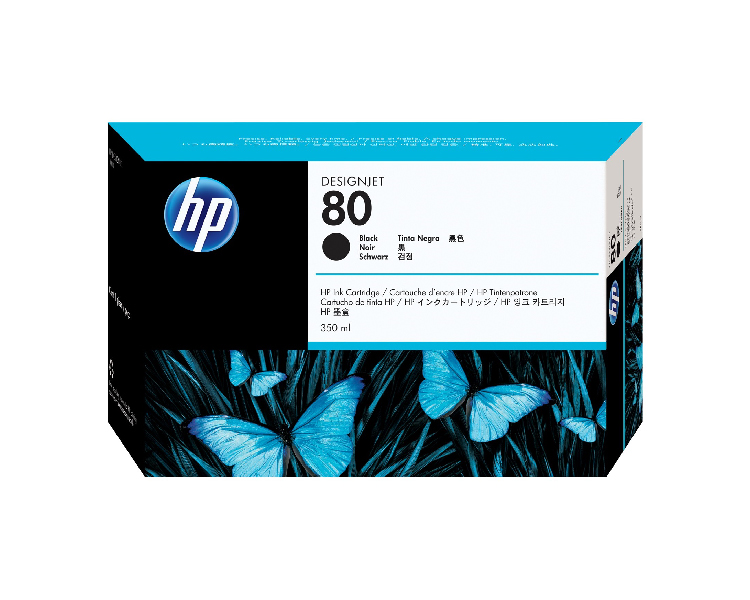 HP 80 Designjet Ink Cartridge - 350 ml Black