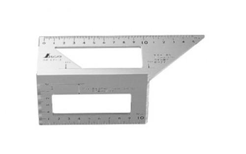 Shinwa 62113 - 168x63x73mm Aluminium Saddle Layout Gauge / Siku Jepang