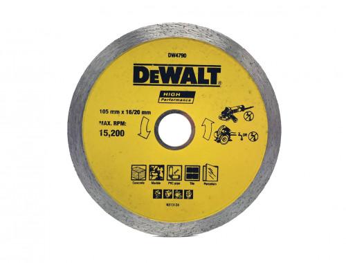 "DeWalt DW4790 - 105mm - Continous Rim Mata Potong Keramik / Beton 4"""