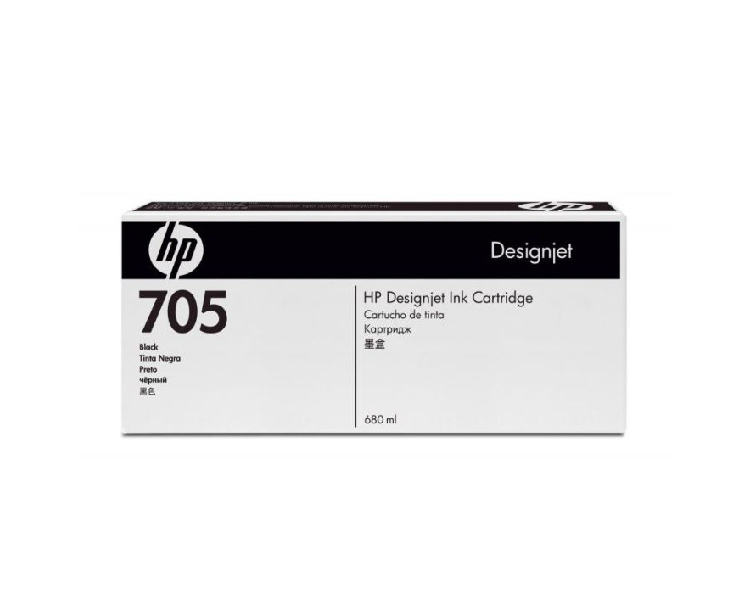 HP 705 DesignJet Ink Cartridge - 680 ml Black