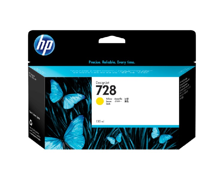 HP 728 Cartridge 130 ml Yellow