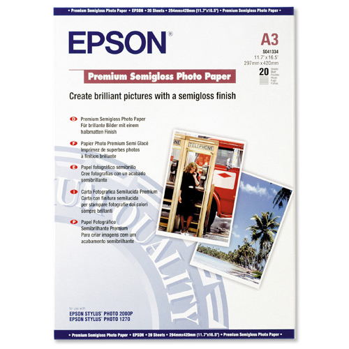 Epson Premium Semi Gloss Photo Paper A3