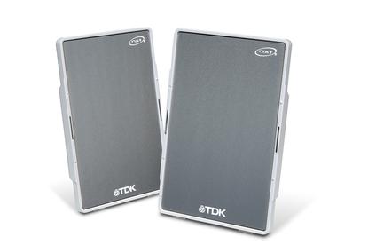 TDK Tremor Speaker Flat Panel Xa-10 Silver