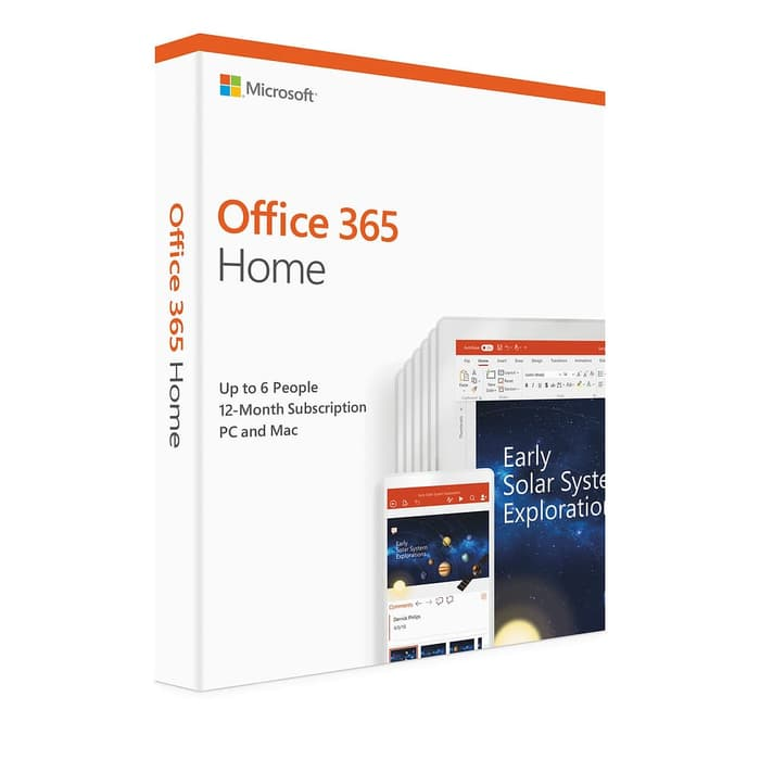 MICROSOFT Office 365 Home English APAC EM Subscr 1YR Medialess P4