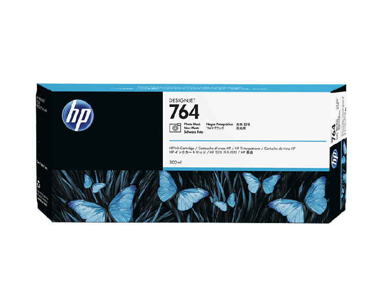 HP 764 Designjet Ink Cartridge - 300 ml Photo Black