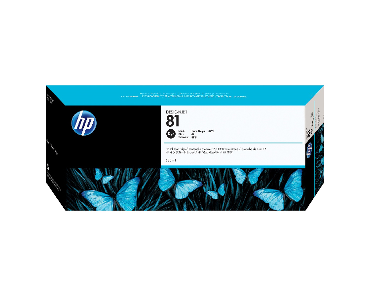 HP 81 DesignJet Ink Cartridge - 680 ml Black