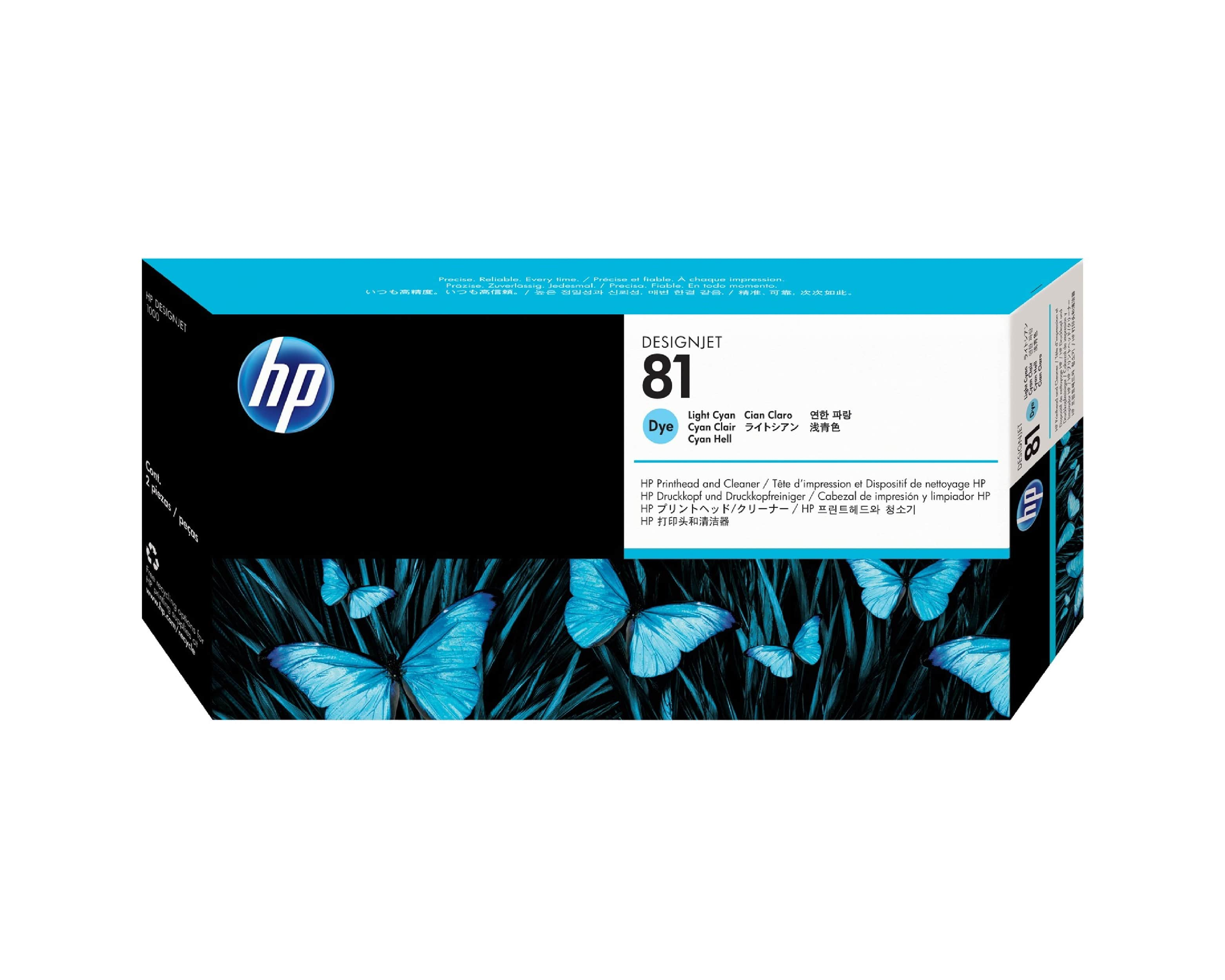HP 81 DesignJet Printhead & Cleaner - Light Cyan