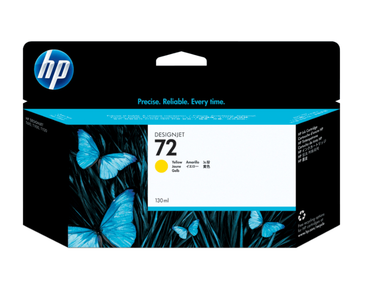 HP 72 Designjet Ink Cartridge - 130 ml Yellow