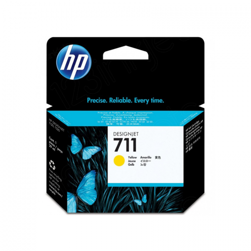 HP 711 Designjet Ink Cartridge - 29 ml Yellow