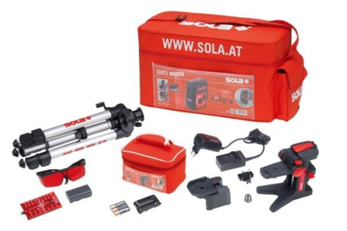 Sola iOX5 Proffessional Laser Level + Tripod + Universal Holder + Charger