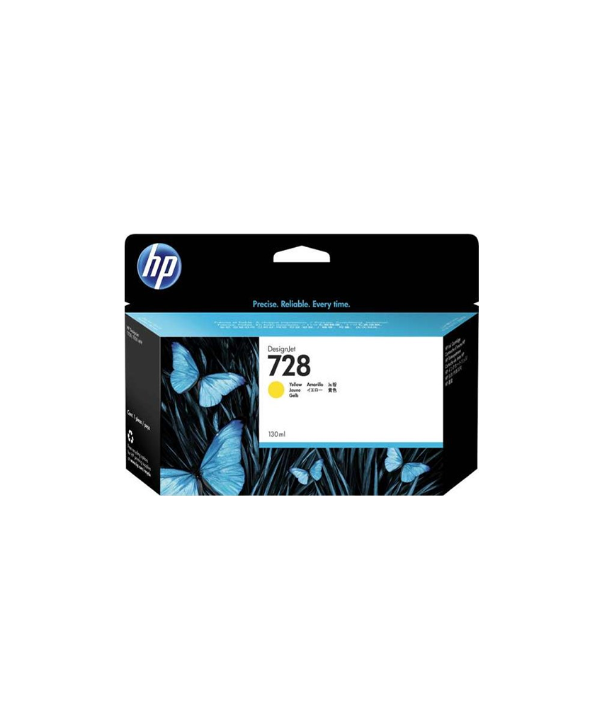 HP 728 Designjet Ink Cartridge - 130 ml Yellow