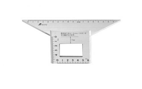 Shinwa 62114 - 200x63x73mm Aluminium Layout Miter Gauge / Siku Jepang
