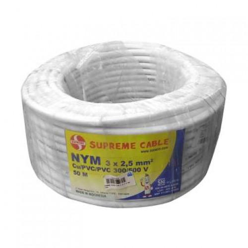 Supreme NYMHY 3x2.5m Kabel Listrik Roll Putih