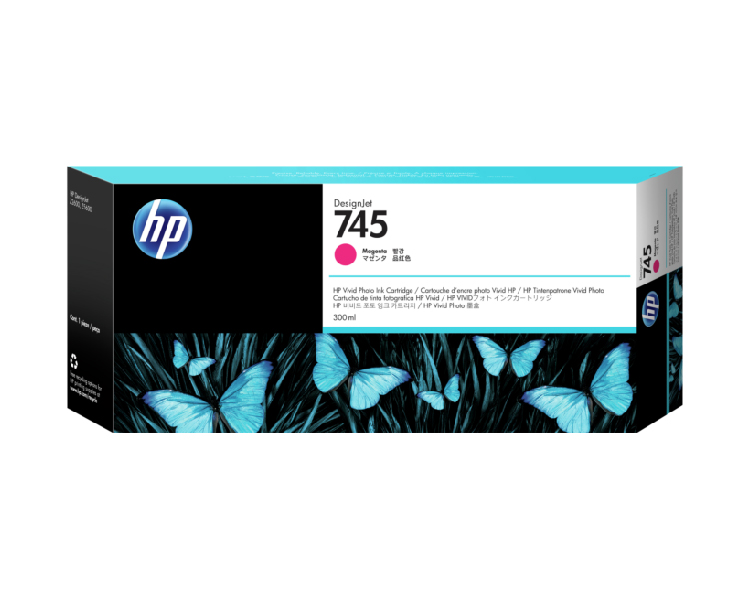 HP 745 Designjet Ink Cartridge - 300ml Magenta