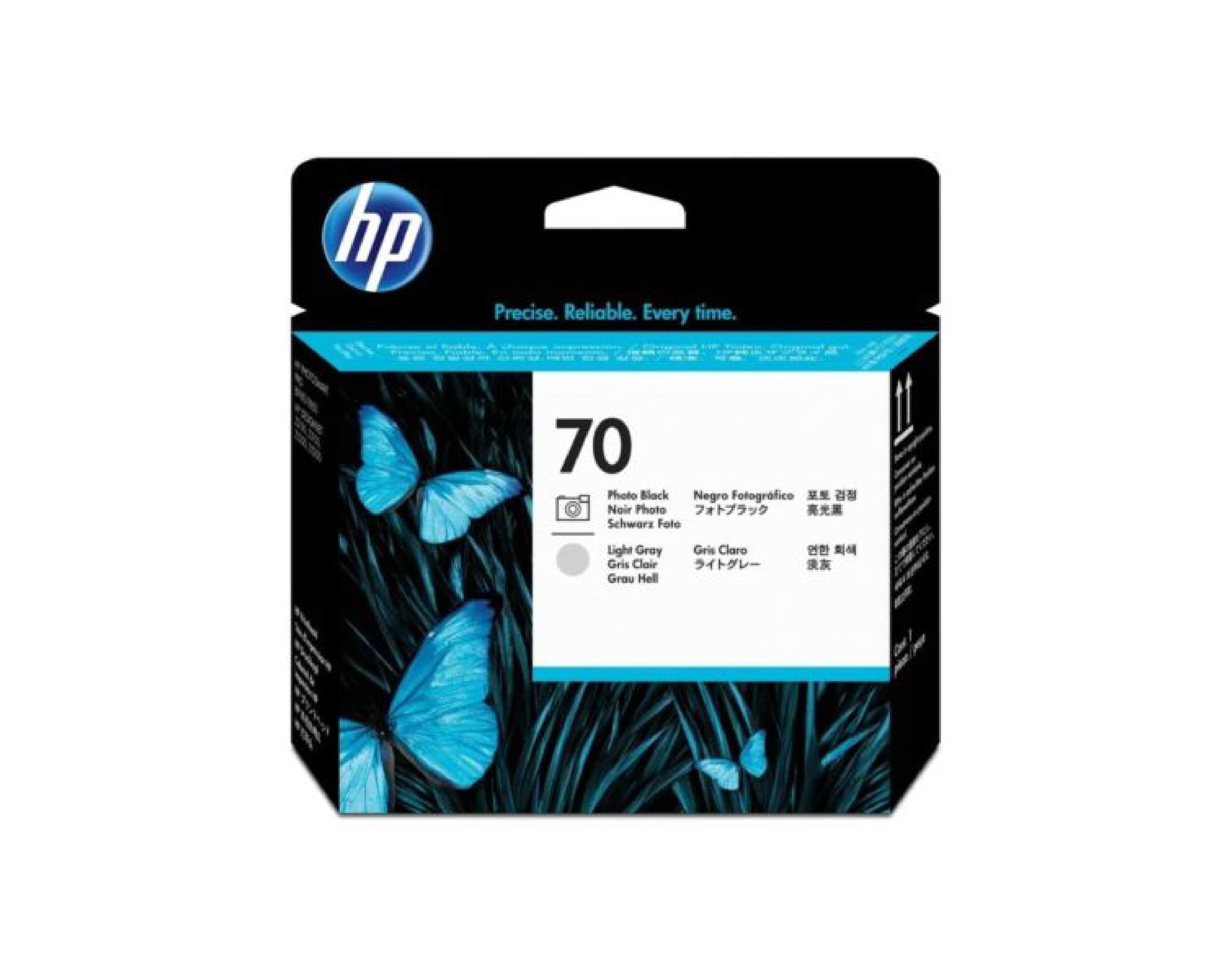 HP 70 DesignJet Printhead - Photo Black & Light Gray