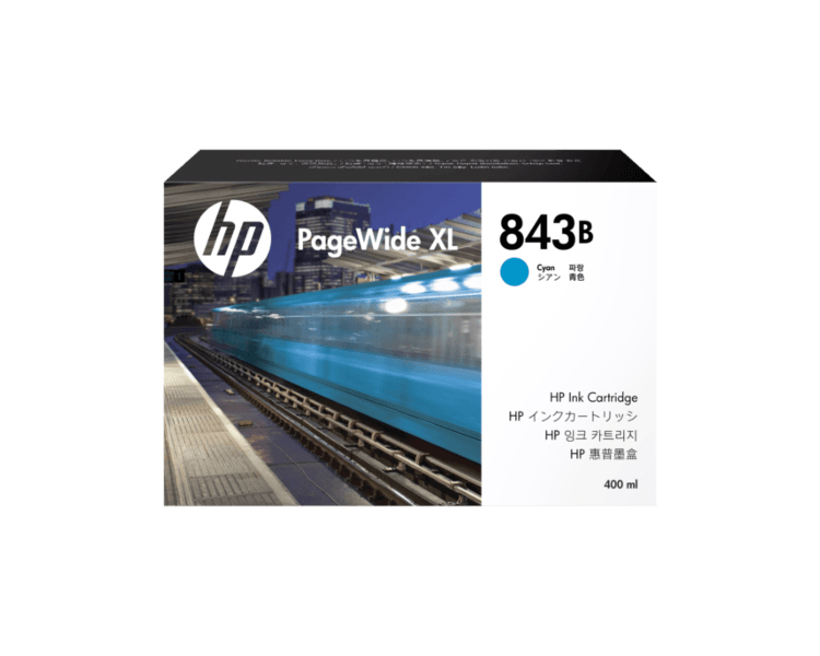 HP 843B DesignJet Ink Cartridge - 400ml Cyan