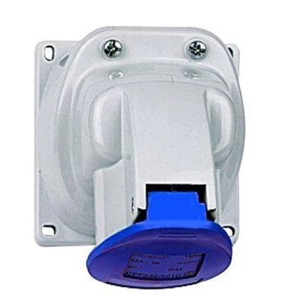 Legrand 2P+E 16A-250V Blue Socket Outbow Listrik Industri P17