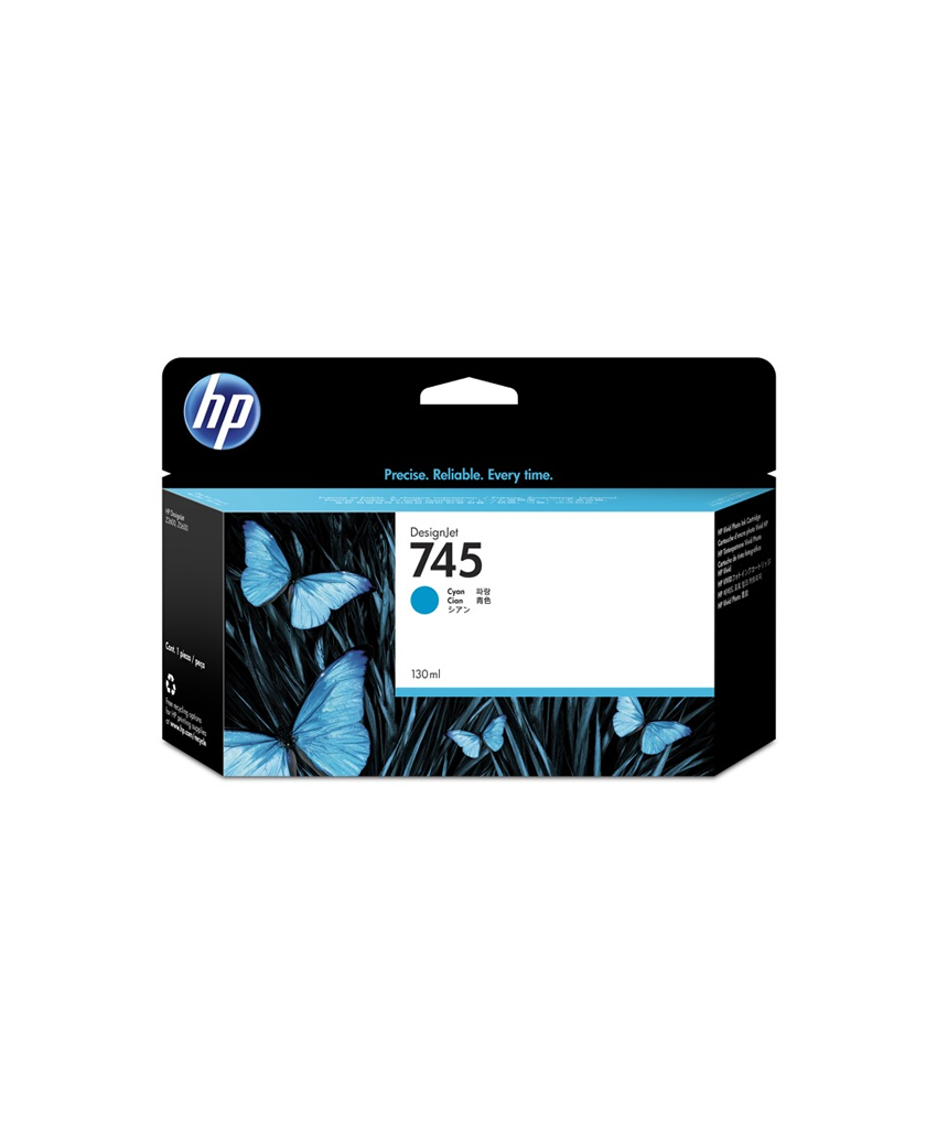 HP 745 Designjet Ink Cartridge - 130 ml Cyan