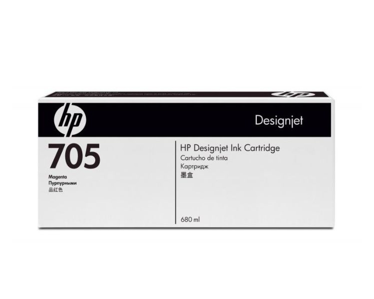 HP 705 DesignJet Ink Cartridge - 680 ml Magenta