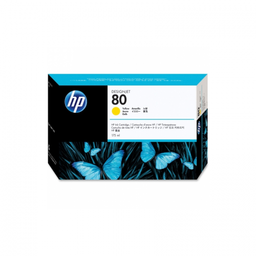 HP 80 Designjet Ink Cartridge - 175 ml Yellow