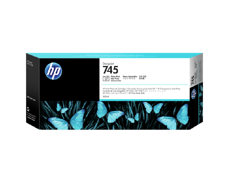 HP 745 Designjet Ink Cartridge - 300ml Photo Black