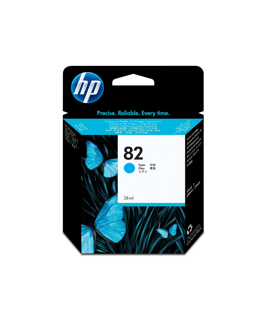HP 82 DesignJet Ink Cartridge - 69 ml Cyan