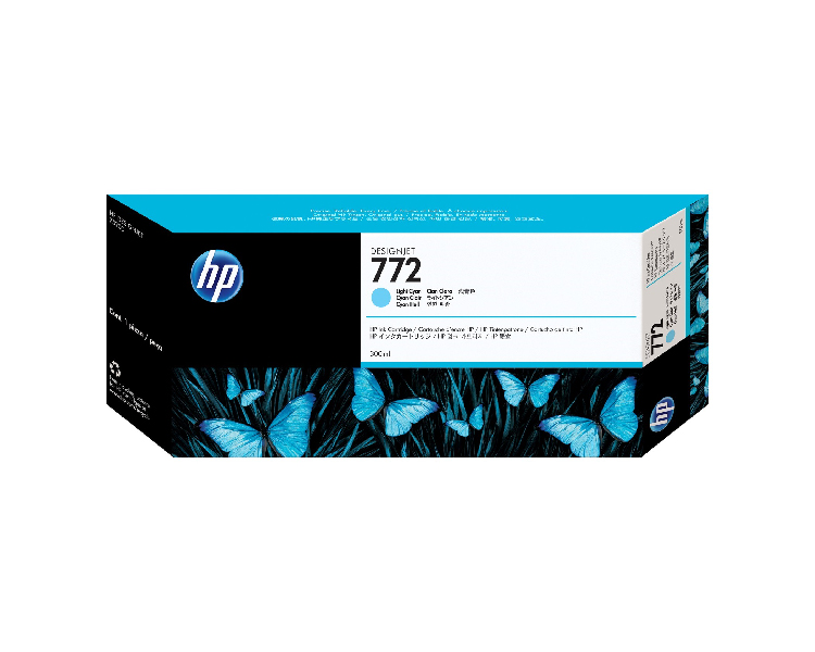 HP 772 Designjet Ink Cartridge - 300 ml Light Cyan