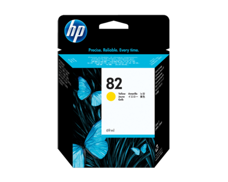HP 82 DesignJet Ink Cartridge - 69 ml Yellow