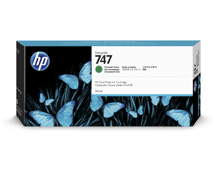 HP 747 Designjet Ink Cartridge 300ml Chromatic Green