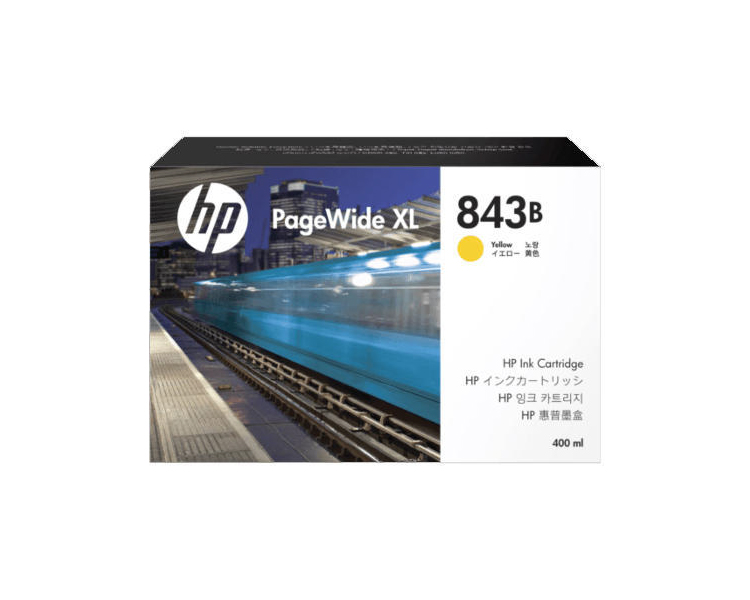 HP 843B DesignJet Ink Cartridge - 400ml Yellow