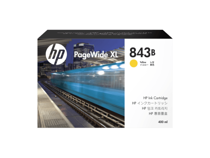 HP 843B DesignJet Ink Cartridge - 400ml Yellow
