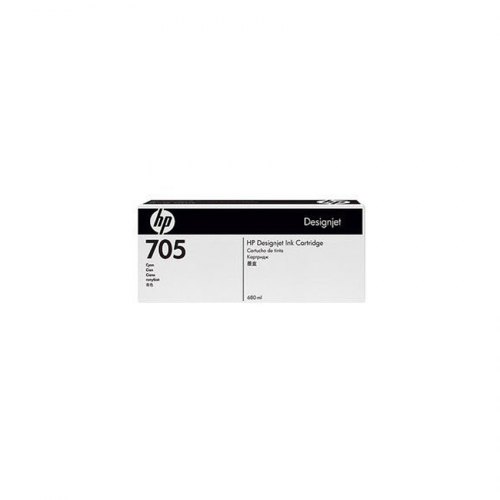 HP 705 DesignJet Ink Cartridge - 680 ml Cyan