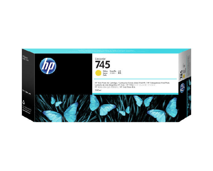 HP 745 Designjet Ink Cartridge - 300ml Yellow
