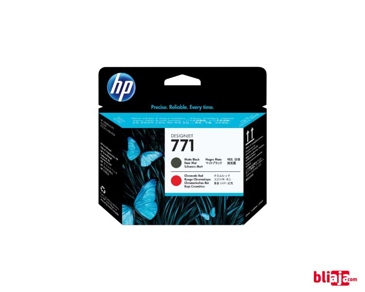 HP 771 DesignJet Printhead - Matte Blac & Chromatic Red